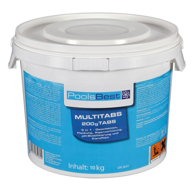 10 kg pool chlor multitabs 5in1 als 200g chlortabletten ebay. Black Bedroom Furniture Sets. Home Design Ideas