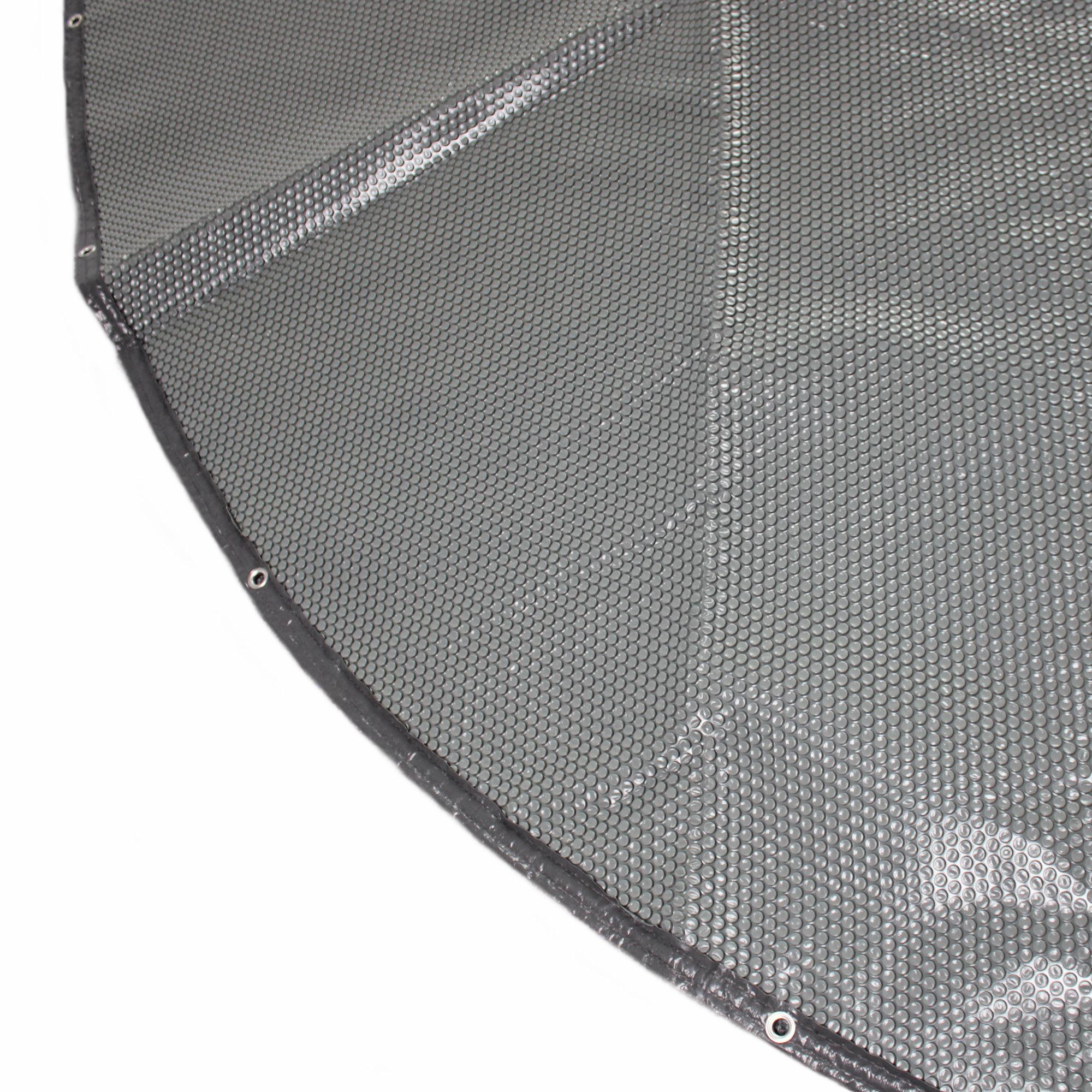 Solarabdeckung mit rand und sen 400 grau transluzent for Stahlwandpool rund steinoptik