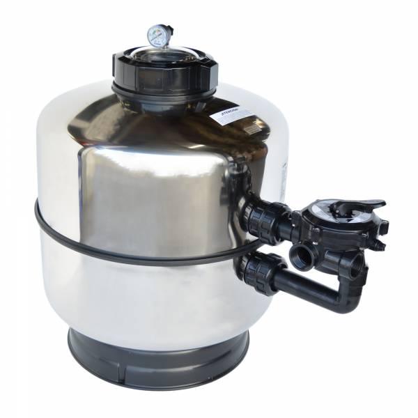 Edelstahl Filterbehälter Corona II V2A Ø 600mm inkl. Ventil