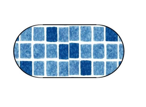 Poolfolie Ovalform Mosaikblau