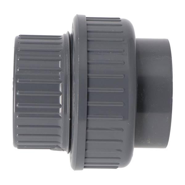 PVC Verschraubung Ø 50mm - grau