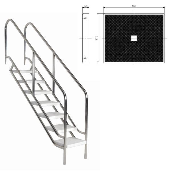 Ersatzstufe für Einbautreppe V4A
