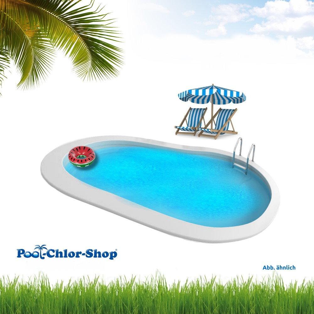 stahlwandpool oval pool chlor shop. Black Bedroom Furniture Sets. Home Design Ideas