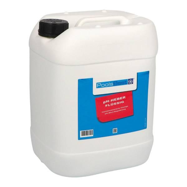 25 Kg - PoolsBest® pH-Heber flüssig 45%ig