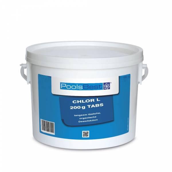 3 Kg - PoolsBest® Chlortabletten L 200g, 80-90% Aktivchlor, langsaml