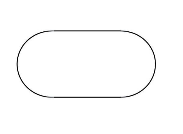 Poolfolie Ovalform Weiß