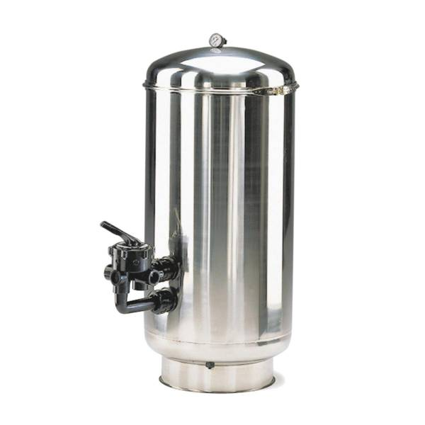 Filterbehälter Astral Hoch mit Edelstahl V4A Filter Ø 500mm mit Ventil