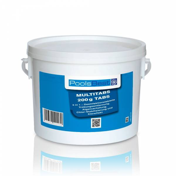 3 Kg - PoolsBest® Chlor Multitabs 5 in 1, 200 g Tabs
