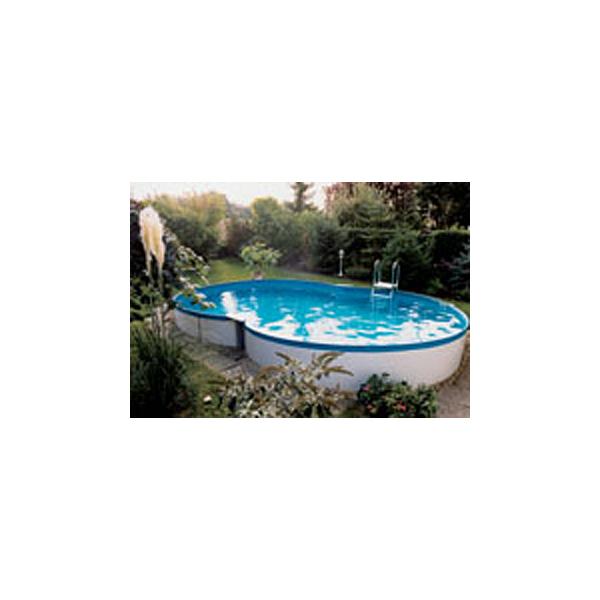 stahlwandpool achtform pool chlor shop. Black Bedroom Furniture Sets. Home Design Ideas