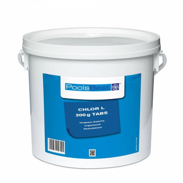 5 Kg - PoolsBest® Chlortabletten L 200g, 80-90% Aktivchlor, langsaml