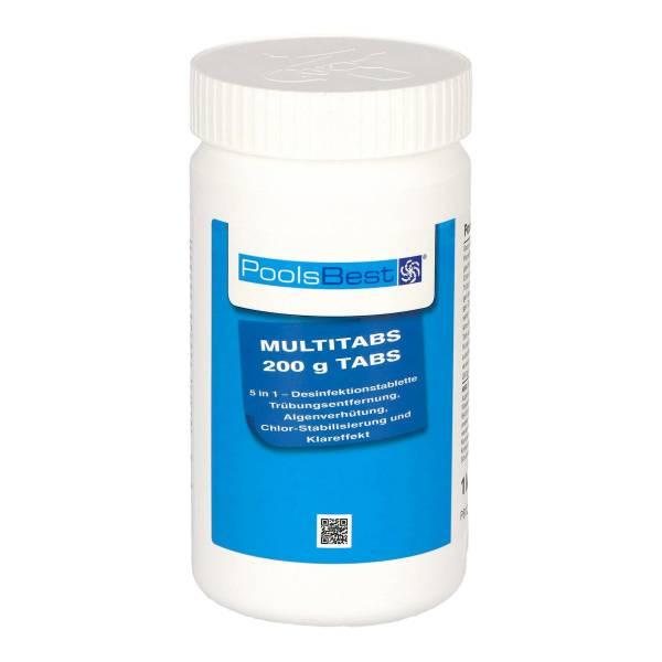 1 Kg - PoolsBest® Chlor Multitabs 5 in 1, 200 g Tabs