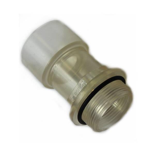 PVC Schlauchstutzen transparent Aussengewinde 38mm - 50mm