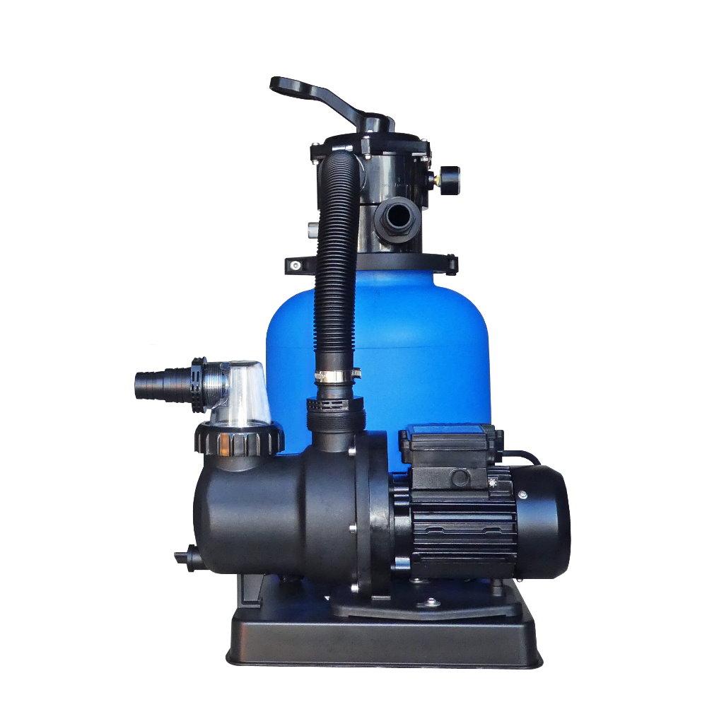Sandfilteranlage eco mit sps 75 1 pumpe 6m h bis 36m becken pool chlor shop - Pool rechteckig mit pumpe ...