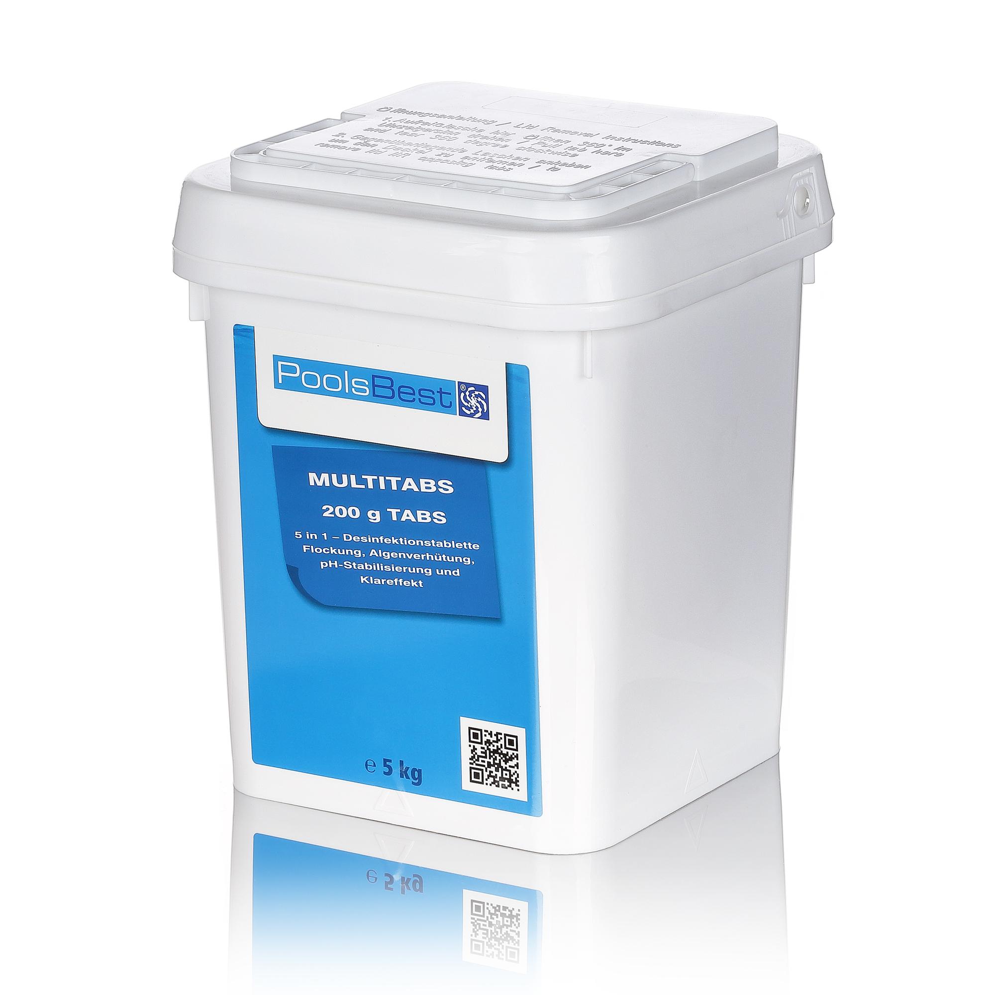 5 kg poolsbest chlor multitabs 5 in 1 200 g tabs pool chlor shop. Black Bedroom Furniture Sets. Home Design Ideas