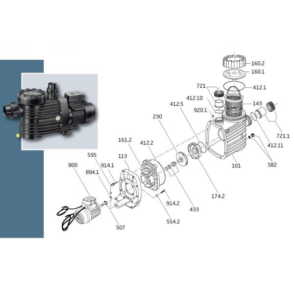 O-Ring für Deckel 135 x 5 mm für Super Pump + ECO Touch PRO