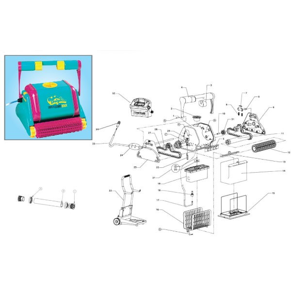 PVC-Bürste – Combi – Magenta