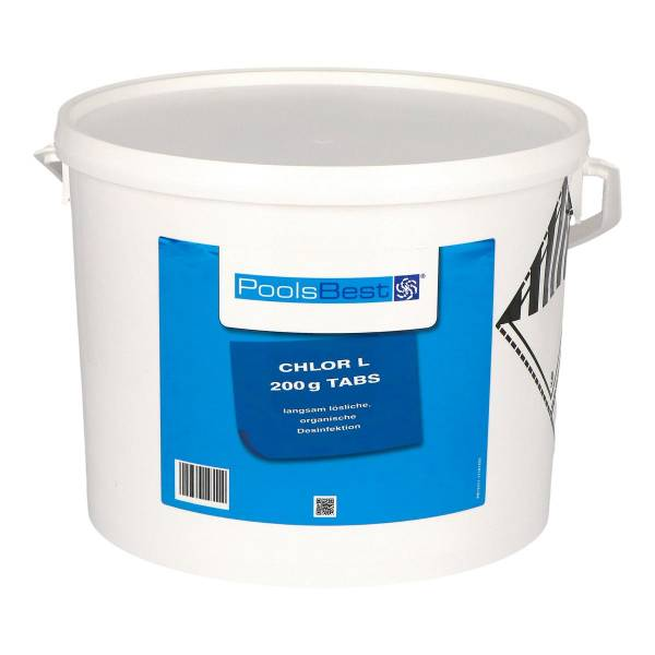 10 Kg PoolsBest® Chlor L 200g Tabletten 92% Aktivchlor langsamlöslich
