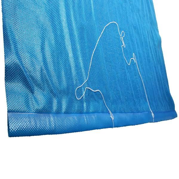Solarfolie blau 400my mit 80cm für Aufrollvorrichtung für Rechteckbecken