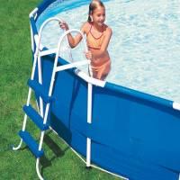 sicherheitsleiter f r pools von 122 cm h he pool chlor shop. Black Bedroom Furniture Sets. Home Design Ideas