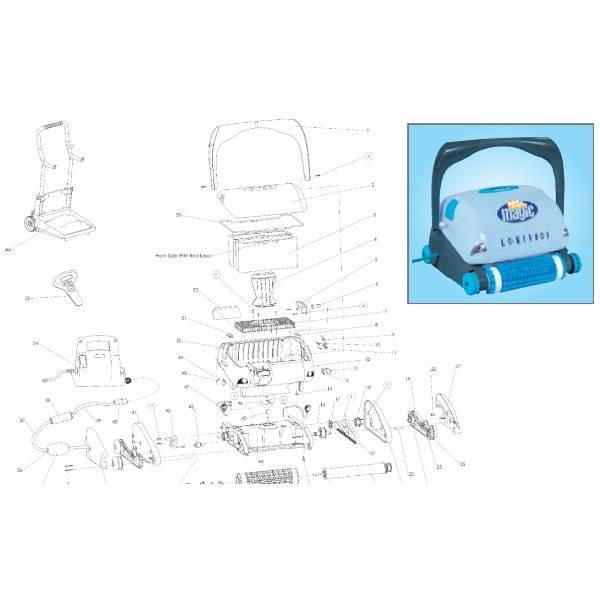 PVC-Bürste – Combi – Blau – Luminous