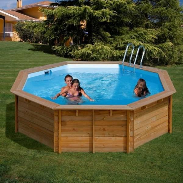 pool komplettset aus echtholz violette 511 x 124 cm. Black Bedroom Furniture Sets. Home Design Ideas