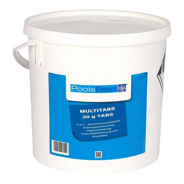 10 Kg - PoolsBest® Mini - Multitabs 5 in 1, 20 g Tabletten