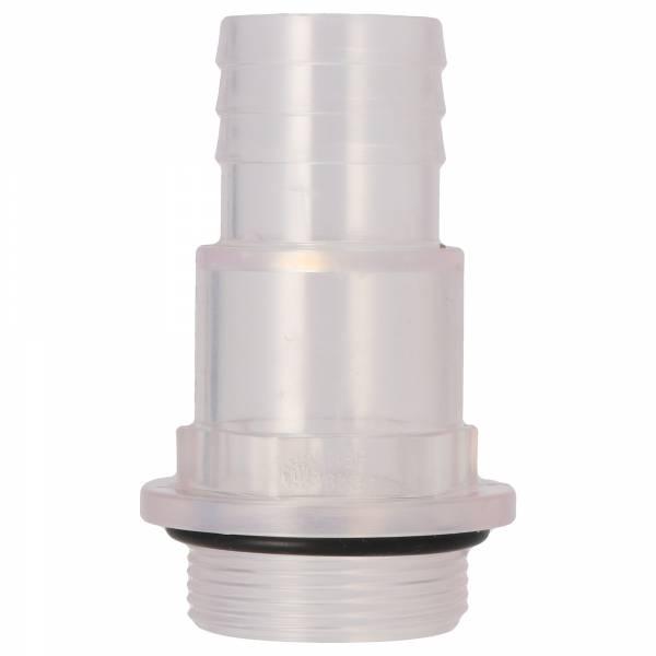 PVC Schlauchstutzen transparent- 32/38mm mit Außengewinde