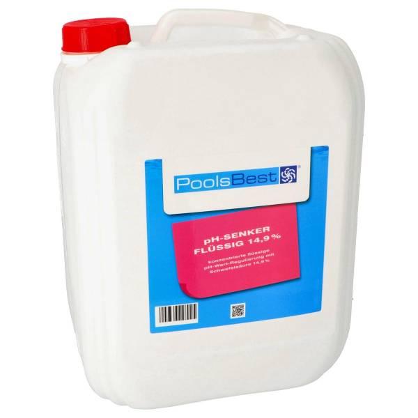 11 Kg - PoolsBest® pH-Senker flüssig 14,9%ig