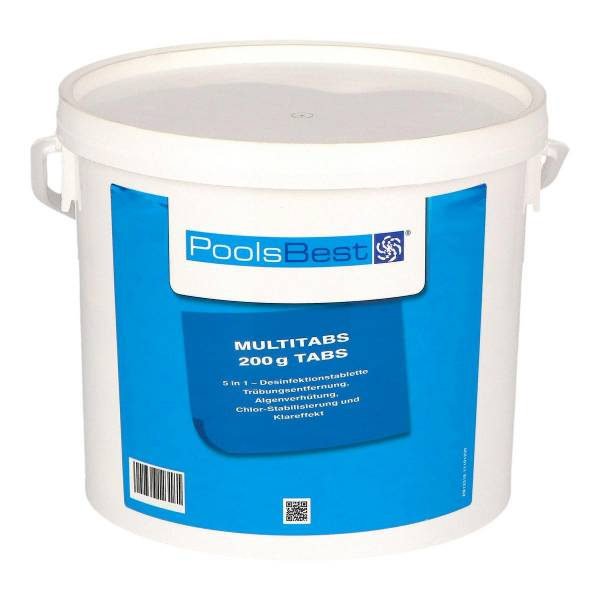 5 Kg - PoolsBest® Chlor Multitabs 5 in 1, 200 g Tabs