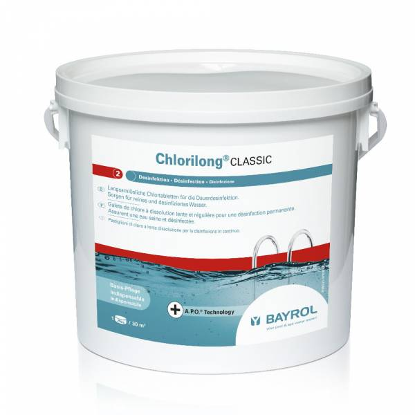 5 Kg Bayrol Chlorilong Classic - mit Clorodor Control® Kapsel