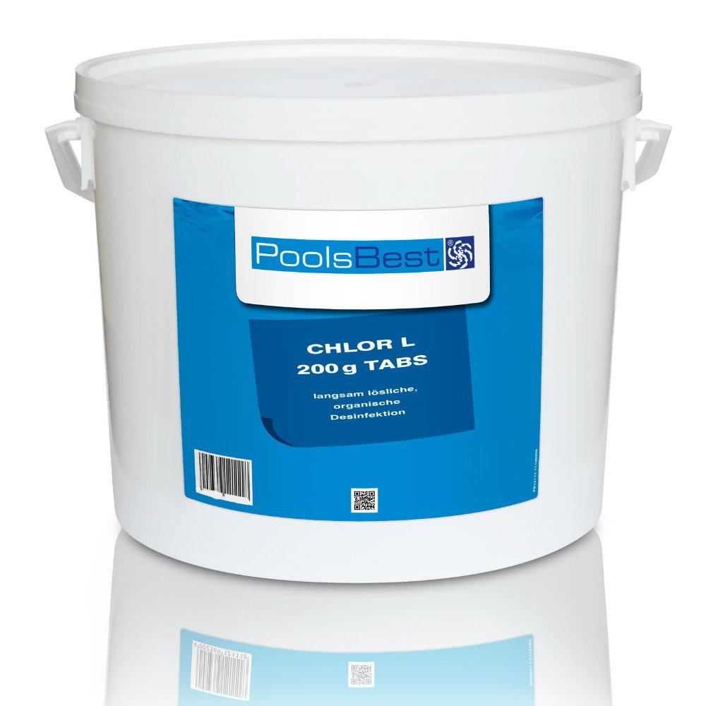 10 kg poolsbest chlortabletten l 200g 80 90 aktivchlor langsaml pool chlor shop. Black Bedroom Furniture Sets. Home Design Ideas
