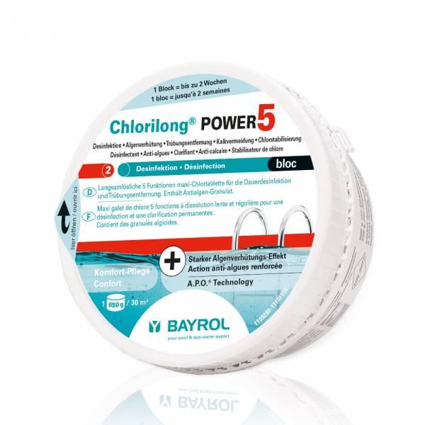 650g BAYROL Chlorilong Power 5 Bloc