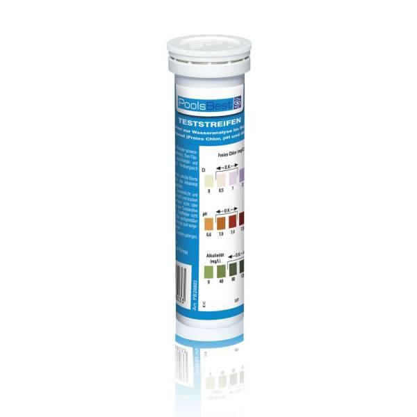 PoolsBest® Teststreifen pH/Clor Dose mit 50 Streifen