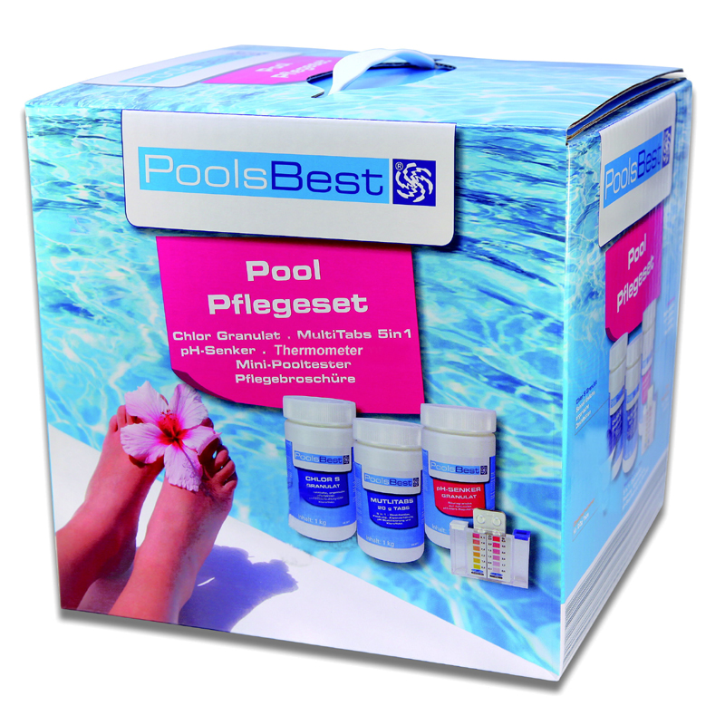poolsbest pool starter set 5in1 f r pool anf nger pool chlor shop. Black Bedroom Furniture Sets. Home Design Ideas