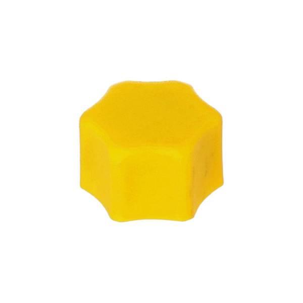 Verschlusskappe gelb für Aqua Plus mit Flachdichtung