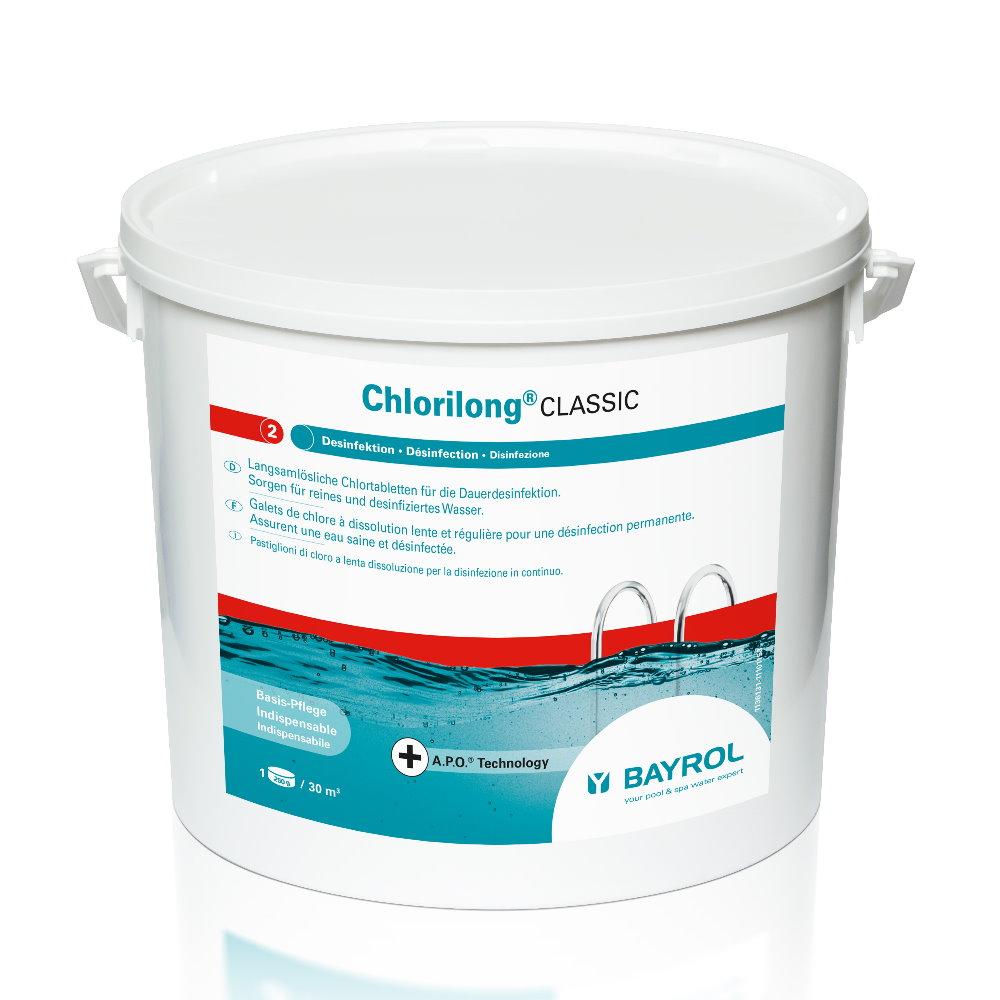 10 kg bayrol chlorilong classic mit clorodor control kapsel pool chlor shop. Black Bedroom Furniture Sets. Home Design Ideas
