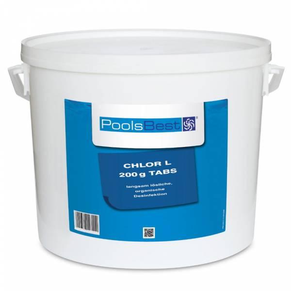 10 Kg - PoolsBest® Chlortabletten L 200g 80-90% Aktivchlor, langsaml