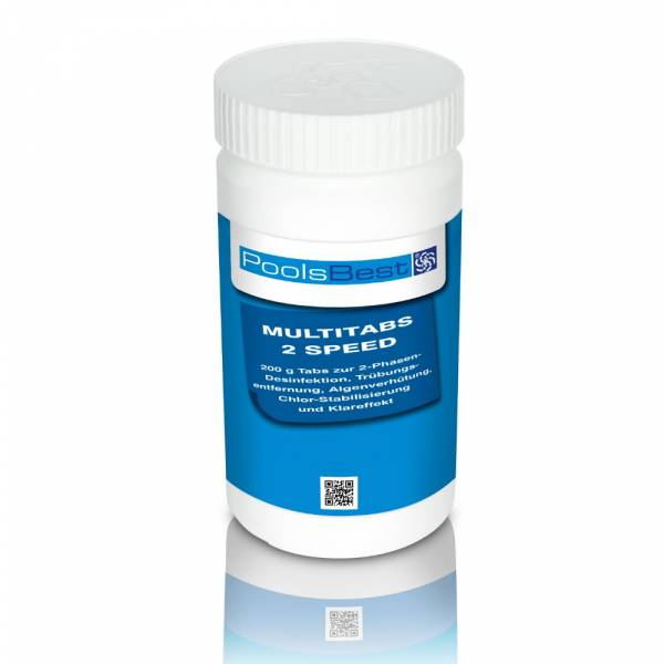 1 Kg - PoolsBest® Multi 2 Speed 6 in 1, Tabs (schnell- & langsaml.)