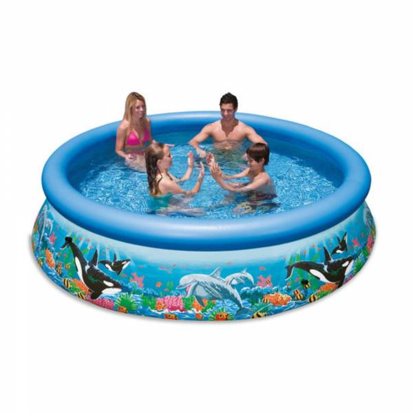 Ocean reef easy set pool 366 x 76cm ohne filterpumpe for Pool holzdekor