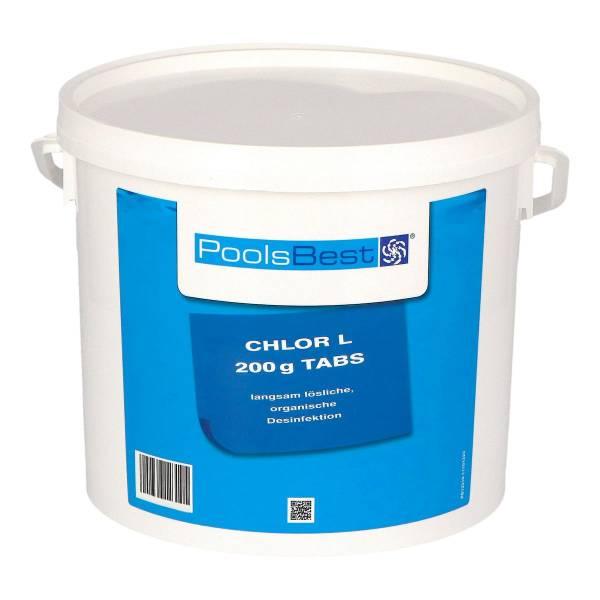 5 Kg PoolsBest® Chlor L 200g Tabletten 92% Aktivchlor langsamlöslich