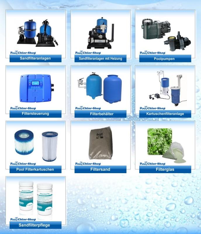 Sandfilter & Pumpen online kaufen | Pool-Chlor-Shop