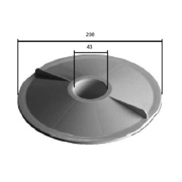 Bodenreinigeranschlussplatte Skim-Vac für Classic & Swimtec-Skimmer