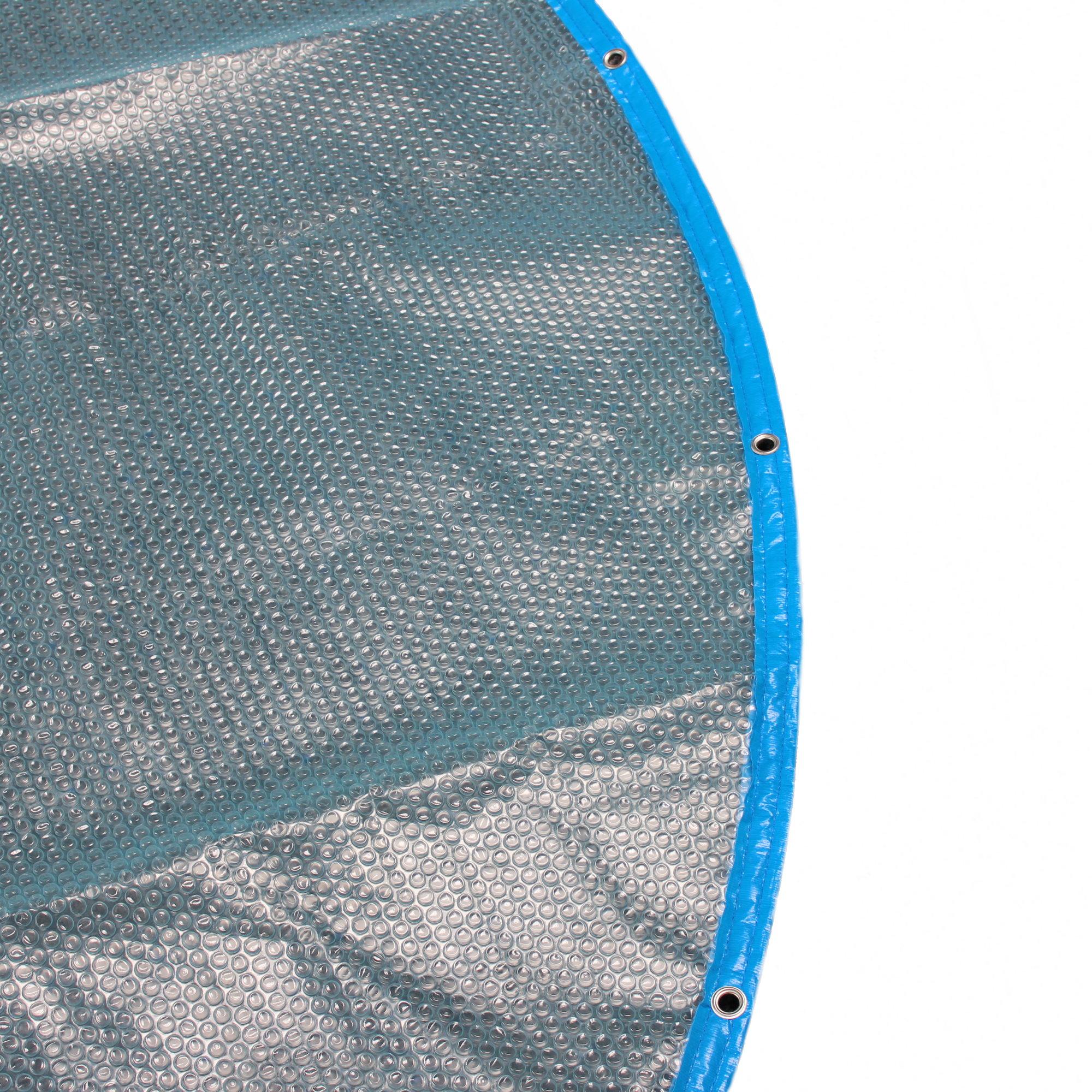 solarabdeckung mit rand und sen 500my blau transluzent f r ovalformbecken pool chlor shop. Black Bedroom Furniture Sets. Home Design Ideas