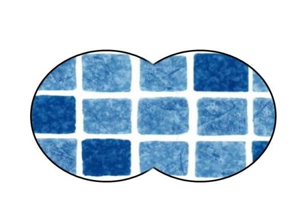 Poolfolie Achtform Mosaikblau