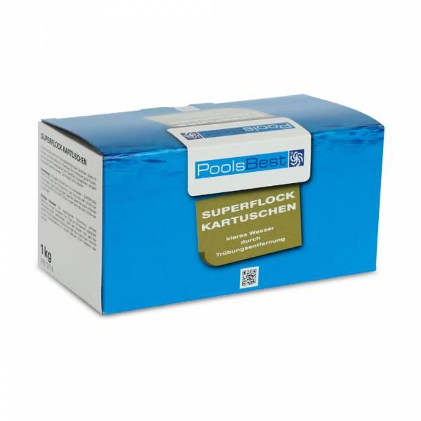 8x125g - PoolsBest® Flockungs-Kartuschen Dauerflock