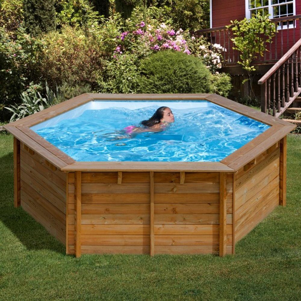pool komplettset aus echtholz lili eco 255 cm x 119 cm pool chlor shop. Black Bedroom Furniture Sets. Home Design Ideas