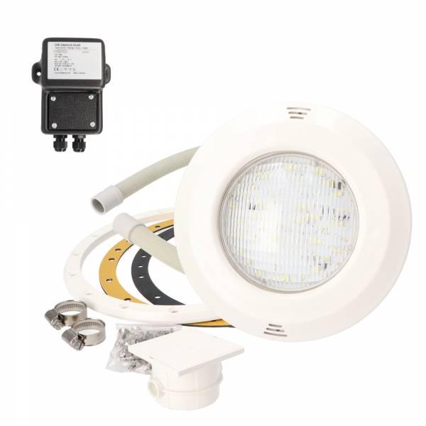 OKU Unterwasserscheinwerfer - 20W LED Kaltweiß - inkl. Sicherheitstrafo - SET 1