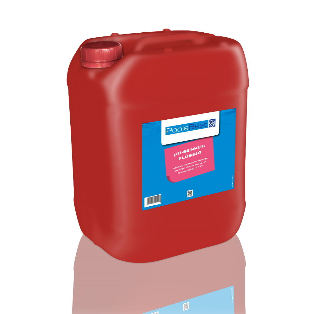 25 Kg - PoolsBest® pH-Senker flüssig 45%ig