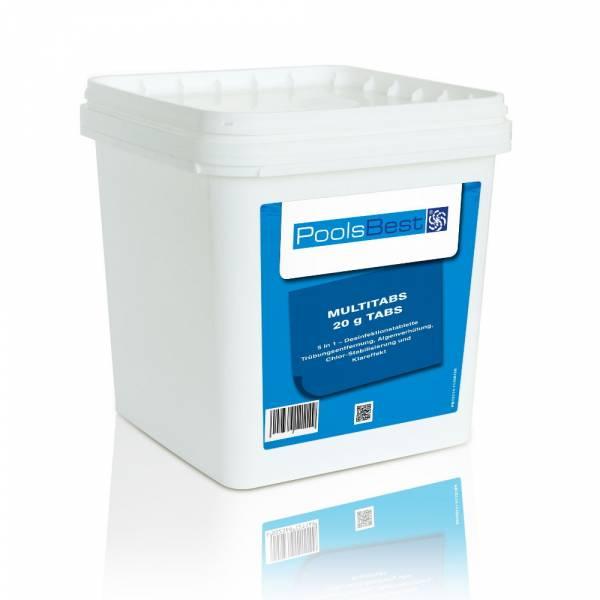 5 kg poolsbest mini multitabs 5 in 1 20 g tabletten pool chlor shop. Black Bedroom Furniture Sets. Home Design Ideas
