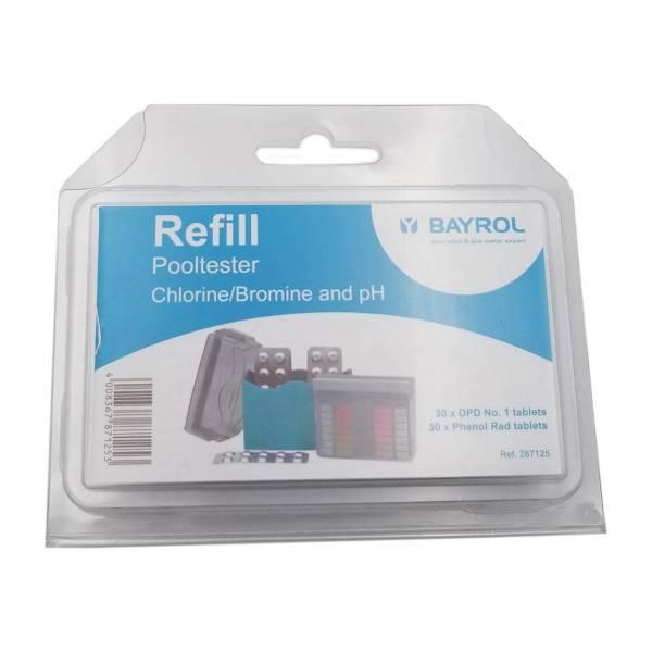 Bayrol - Nachfüllpackung Pool-Tester Chlor / pH
